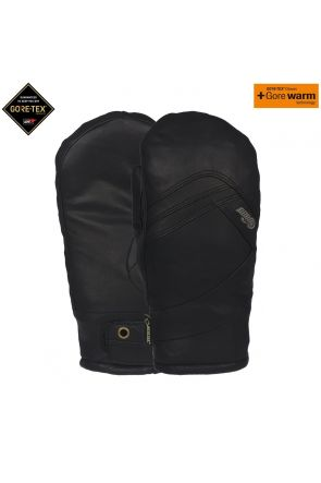POW Stealth GoreTex Womens Waterproof Leather Snow Mitt Black