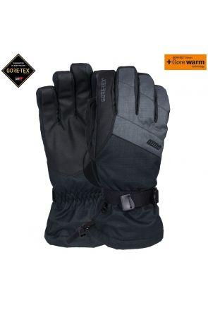 POW Warner GoreTex Mens Ski Long Gloves Charcoal