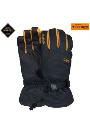 POW Warner GoreTex Mens Ski Long Gloves Tobacco