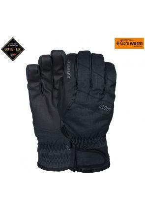 POW Warner GoreTex Mens Snow Short Gloves Black