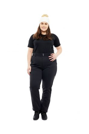 PURE LAPLAND WOMENS SOFTSHELL PLUS SIZE SNOW PANT BLACK SL SIZES 20-30