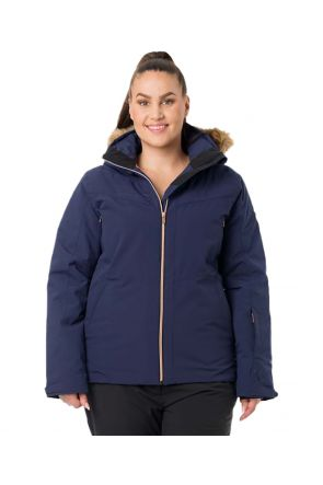RAISKI AVELINE R+ WOMENS PLUS SIZE SNOW JACKET NAVY SIZE 20