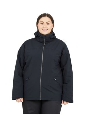 Raiski Fjalla R+ Womens Plus Size Snow Jacket Black Sizes 18-28 FRONT