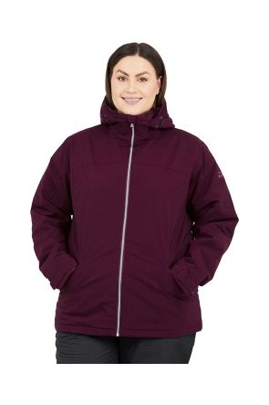 Raiski Fjalla R+ Womens Plus Size Snow Jacket Wine Red Sizes 18-22 FRONT