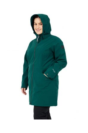 Raiski Fuchu R+ Womens Plus Size Long Rain Shell Jacket Teal Green Sizes 20-28 Front