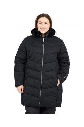 Raiski Gerdi R+ Womens Plus Size Snow Jacket Black Sizes 20-28 FRONT
