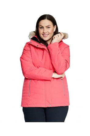 RAISKI KIKAI R+ WOMENS PLUS SIZE SNOW JACKET TEABERRY SIZES 24 - 28 Front