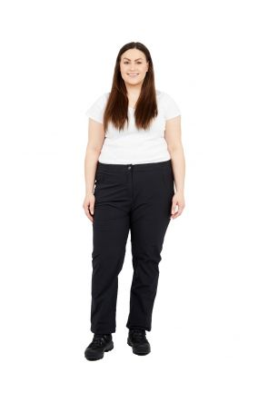 Raiski Pine R+ Womens Plus Size Long Leg Rain Shell Pants Black Size 20-28 Front