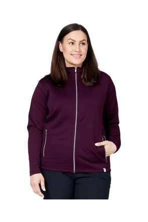 RAISKI SAYURI R+ WOMENS PLUS SIZE THERMAL JACKET PURPLE SIZES 20-26