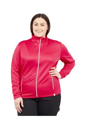 RAISKI SAYURI R+ WOMENS PLUS SIZE THERMAL JACKET RASPBERRY PINK SIZES 20-22 Front