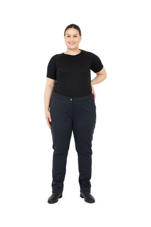 Raiski Solla R+ Womens Softshell Plus Size Snow Pant Black Sizes 22-28 Front