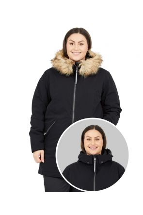 RAISKI SORLA R+ WOMENS PLUS SIZE SNOW JACKET BLACK SIZES 20-28 POSE