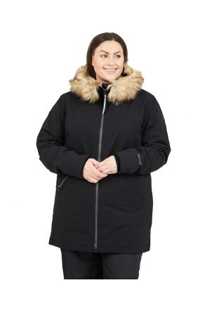 RAISKI SORLA R+ WOMENS PLUS SIZE SNOW JACKET BLACK SIZES 20-28 POSE