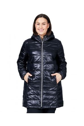 RAISKI SWAN R+ WOMENS PLUS SIZE SNOW JACKET BLACK SIZE 18