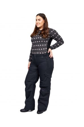 Rojo Adventure Awaits Plus Size Womens Snow Pant Black Sizes 18-26 FRONT