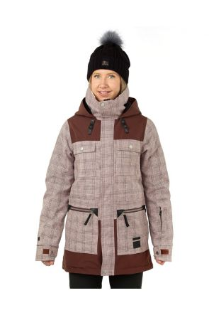 Rojo Aiden Womens Snow Jacket Misty Rose Front