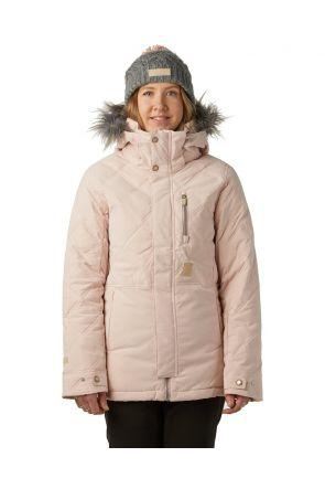 Rojo Mika Womens Snow Jacket Misty Rose Front