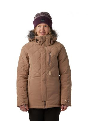 Rojo Mika Womens Snow Jacket Tortoise Shell Front