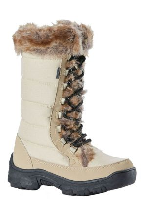 Rojo Snow Fox Boot Womens Apres Snow Boot Off White