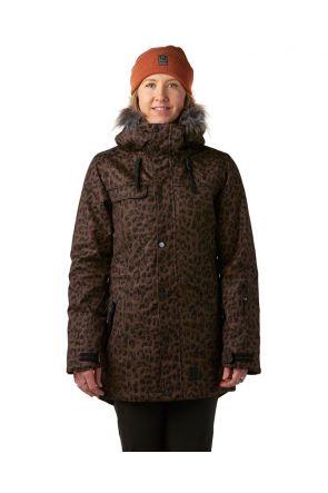Rojo Task Womens Snow Jacket Marron Front