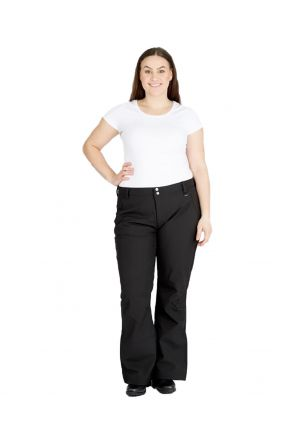 ROJO SOFTSHELL VA VA BOOM WOMENS PLUS SIZE SNOW PANTS BLACK SIZES 18-26