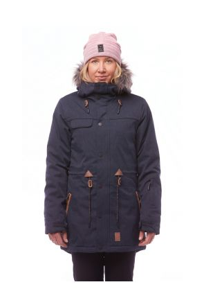 Rojo Task Womens Snow Jacket Blue Nights Front