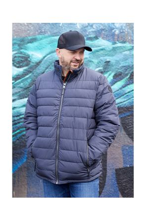 Stoy 002 Mens Plus Size Ski Jacket Blue Sizes 2XL-6XL Front