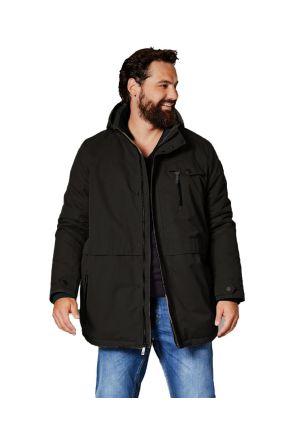 Stoy 006 Mens Plus Size Ski Jacket Black Sizes 3XL-6XL Front