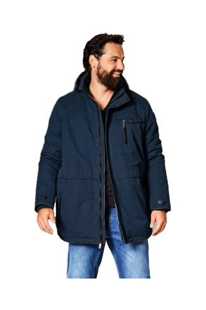 Stoy 006 Mens Plus Size Ski Jacket Black Sizes 3XL-6XL Front