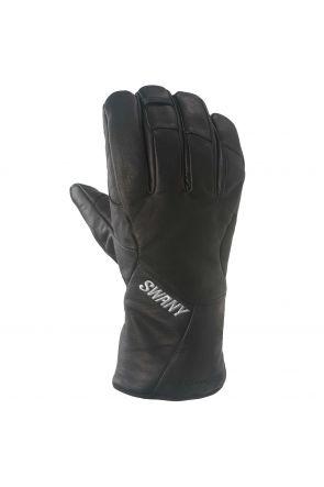 Swany Blackhawk Mens Leather Ski Gloves Black