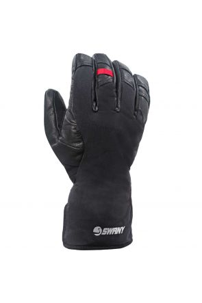 Swany Korvett Mens Leather Ski Under Gloves Black