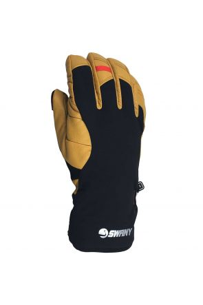 Swany Korvett Mens Leather Ski Under Gloves Black/Tan