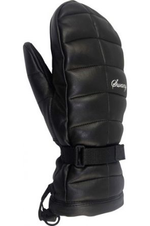 Swany LaCozy Womens Leather Ski Mitten Black