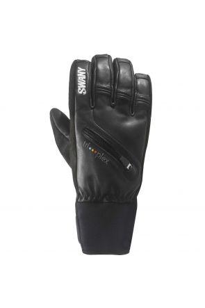 Swany X- Cell Mens Leather Ski Under Gloves Black (