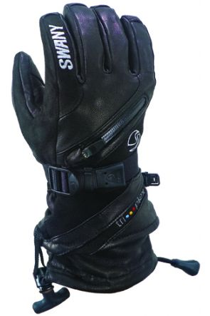 Swany X-Cell II Mens Leather Ski or Snowboard Glove Black