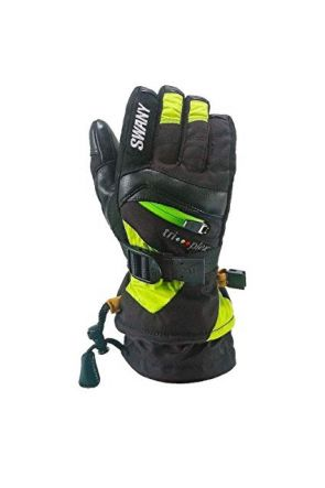 Swany X-Change Kids Ski Glove Black Lime