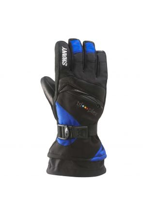 Swany X-Change Kids Ski Glove Black Royal Blue