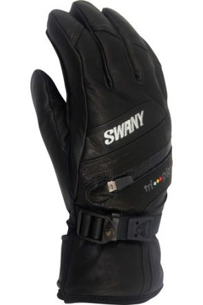 Swany X-Clusive Mens Leather Ski Gloves Black