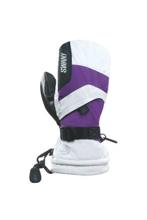 Swany X-Over Kids Ski Mitten White Purple