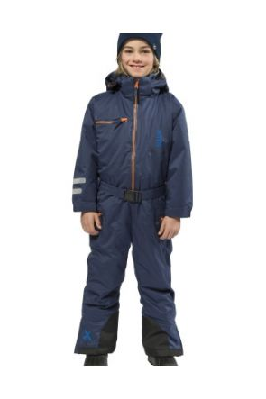 XTM Akira Kids Snow Suit All in one Navy Full Front