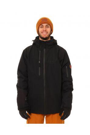 XTM Apollo Mens Snow Jacket Black Front
