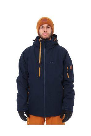 XTM Apollo Mens Snow Jacket Midnight Navy Front