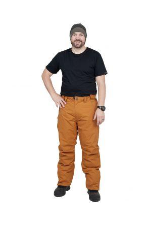XTM Argentina Mens Plus Size Snow Pant Copper Front