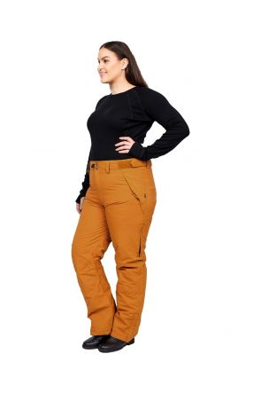 XTM Argentina Womens Plus Size Snow Pant Copper Front