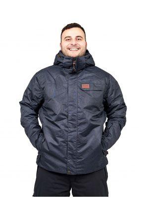 XTM Axel Mens Plus Size Ski Jacket Black Denim Sizes 3XL-7XL FRONT