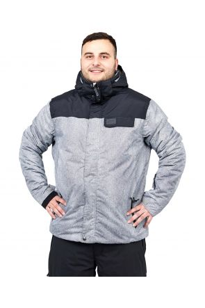 XTM Axel Mens Plus Size Ski Jacket Grey Denim Sizes 3XL-7XL FRONT