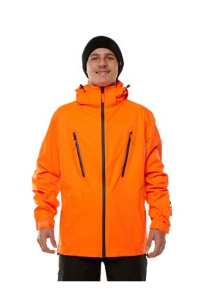 XTM BC Shell Unisex Ski Jacket Hi-Vis Orange Front