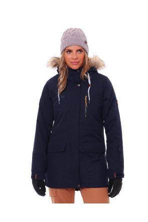 XTM Brooklyn Womens Snow Jacket Midnight Navy Front