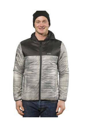 XTM Cannon Mens Puffer Jacket Grey Denim front