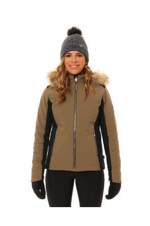 XTM Chamonix Womens Snow Jacket Olive Front